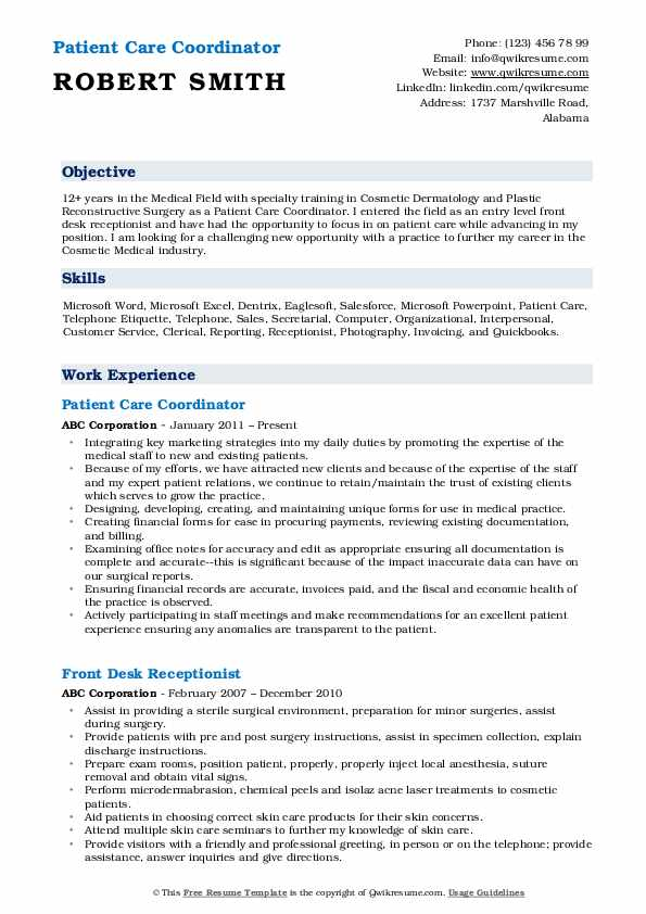 patient care coordinator resume samples qwikresume pdf maintenance man objective for Resume Patient Coordinator Resume