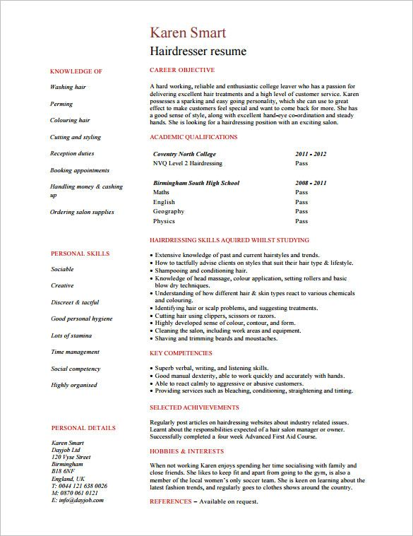 pdf free premium templates hairstylist resume writing services student template hair Resume Hair Stylist Resume Example