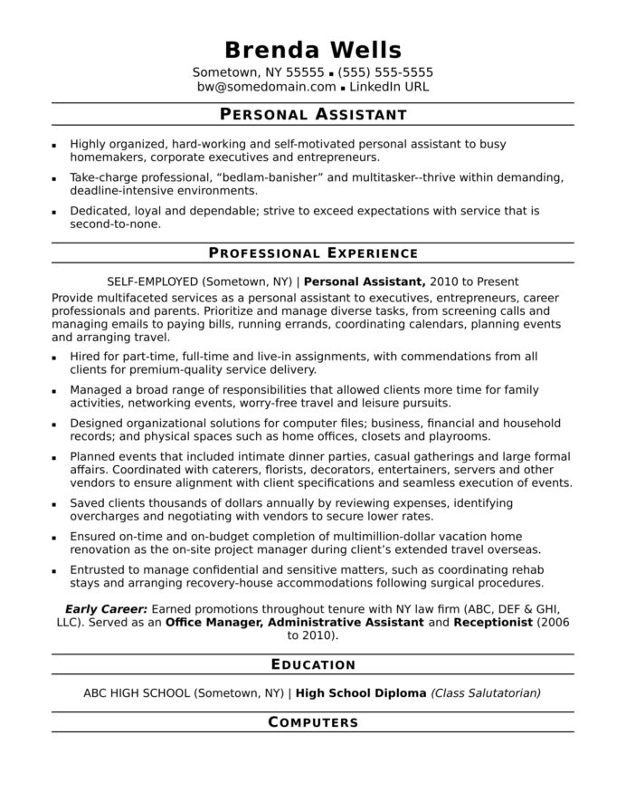 personal assistant resume sample monster article learning and development high school Resume Article Assistant Resume