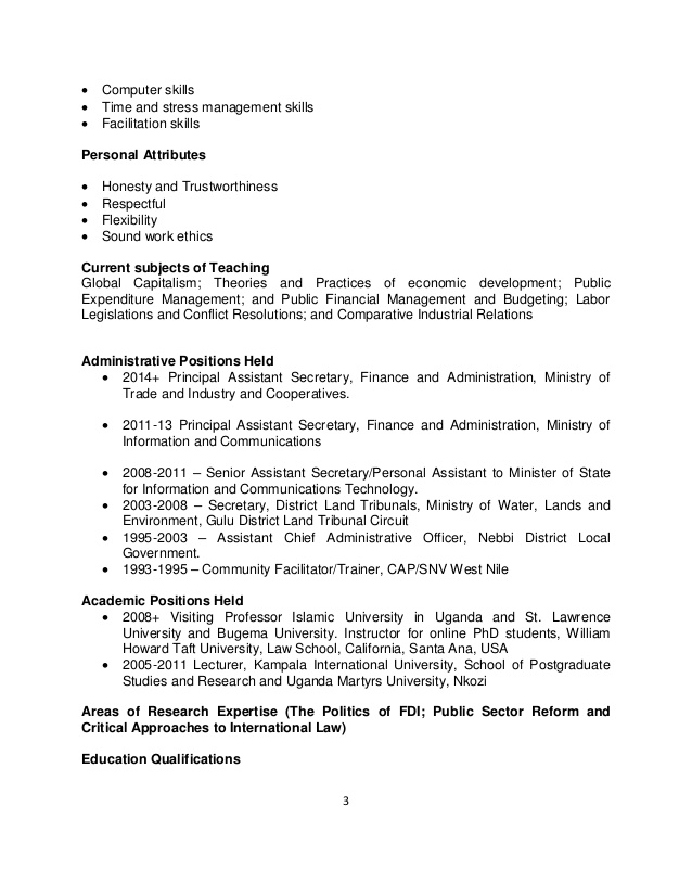 personal attributes on resume examples webcsulb web for profolwor mail format sending Resume Personal Attributes Examples For Resume