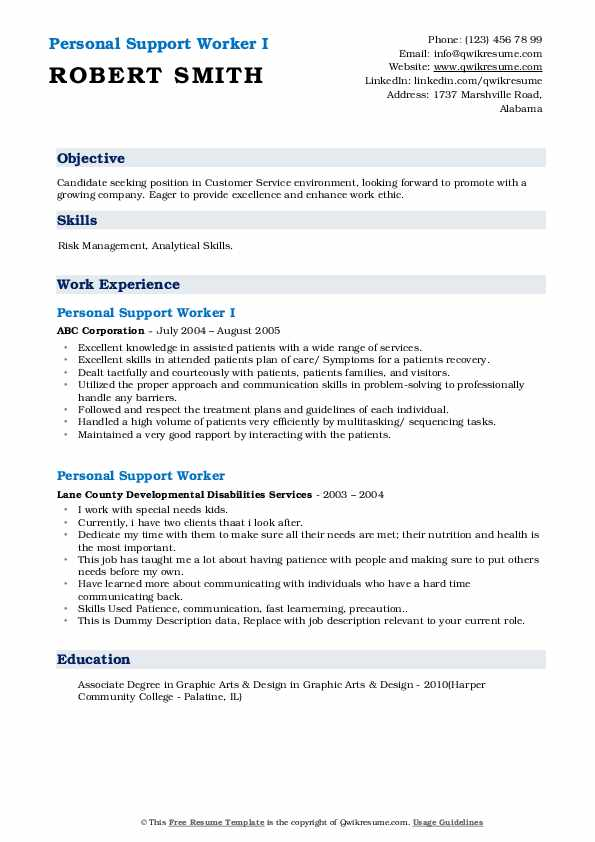 personal support worker resume samples qwikresume sample psw and cover letter pdf Resume Sample Psw Resume And Cover Letter