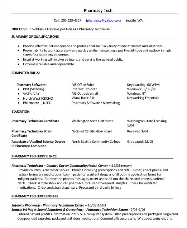 pharmacy technician resume templates pdf free premium duties certified sample financial Resume Pharmacy Technician Duties Resume