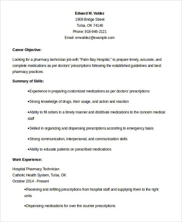 pharmacy technician resume templates pdf free premium duties experienced hospital rental Resume Pharmacy Technician Duties Resume