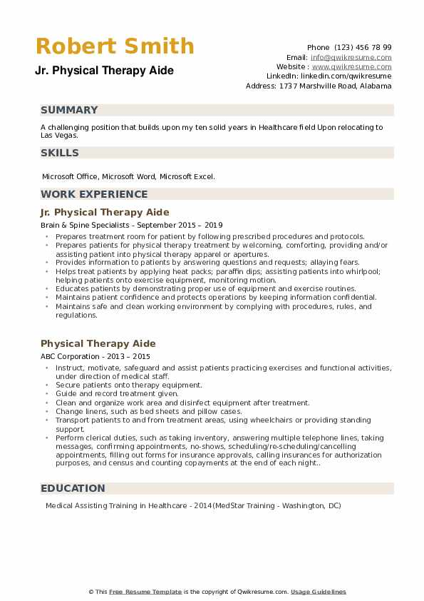 physical therapy aide resume samples qwikresume summary pdf best sas skills payroll clerk Resume Physical Therapy Aide Resume Summary