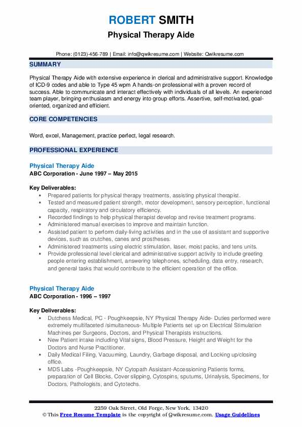 physical therapy aide resume samples qwikresume summary pdf hcc coder double sided should Resume Physical Therapy Aide Resume Summary