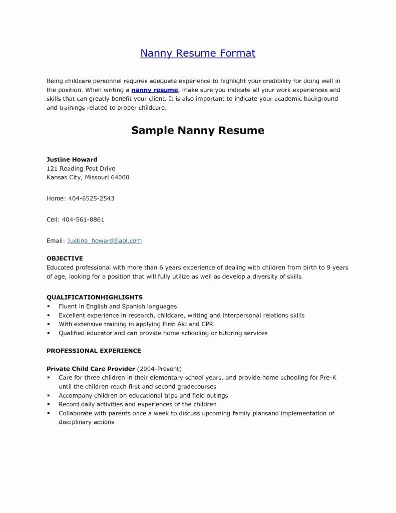 pin by suzsanna perieteanu on fazer sabonete job resume samples examples nanny Resume Resume Objective For Nanny Position