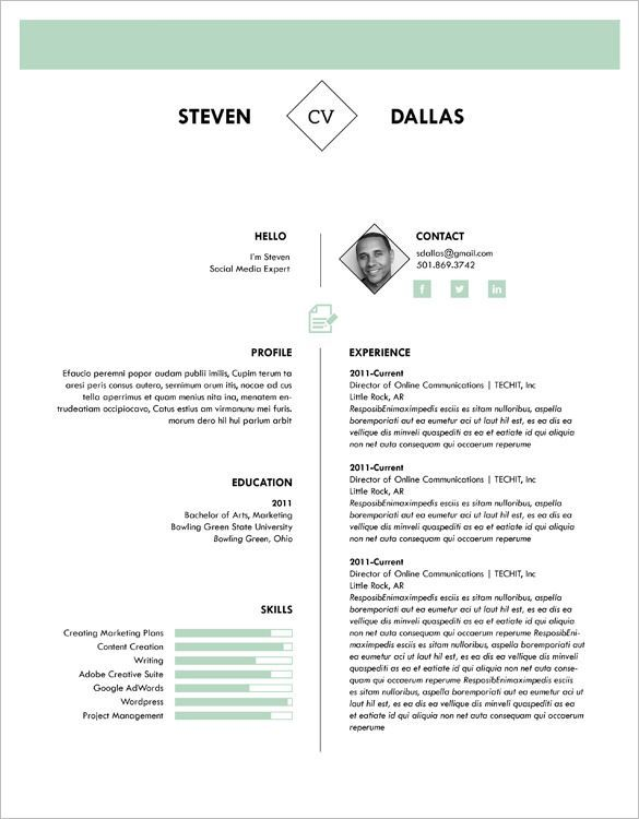 pin on cv template cute766 best one resume patient care advocate data entry profile Resume Best One Page Resume Template