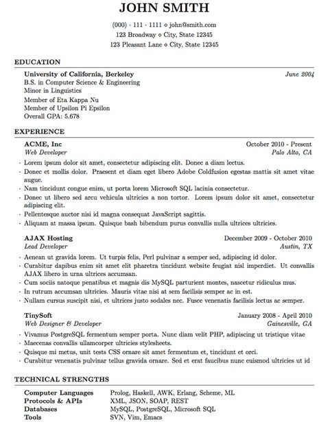 pin on latex resume template computer science assistant bar manager multiple experience Resume Computer Science Latex Resume Template