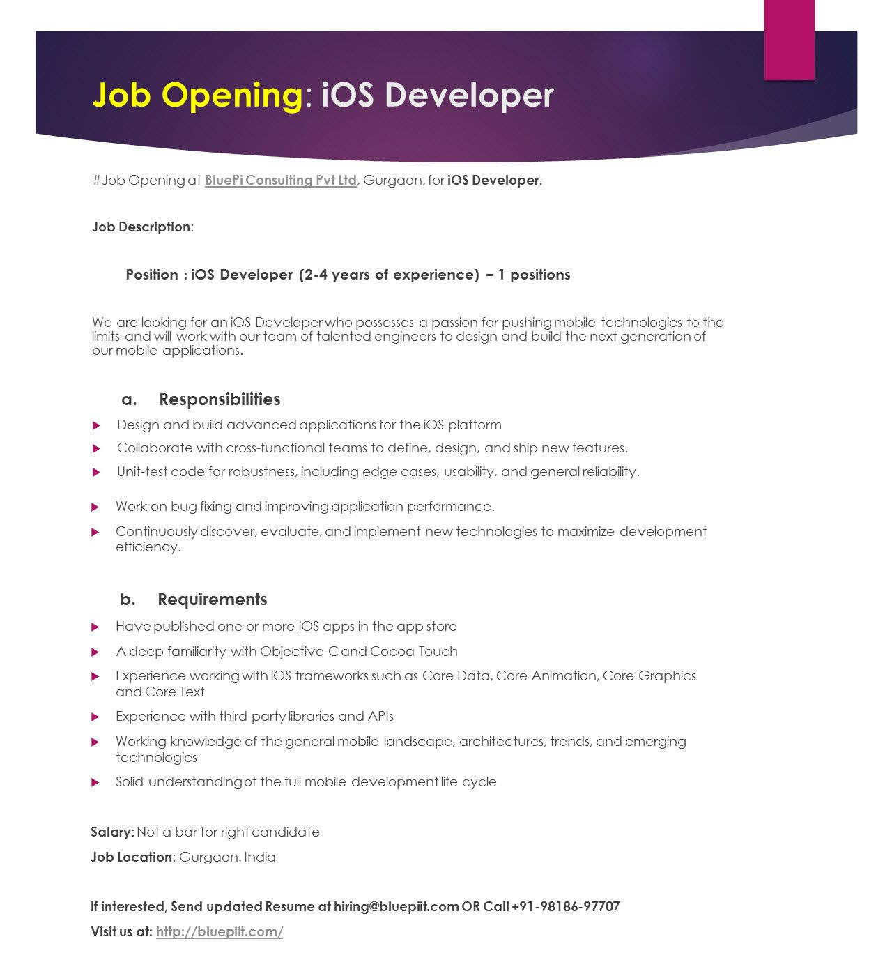 pin on life at bluepi ios developer year experience resume babysitting examples most Resume Ios Developer 2 Year Experience Resume
