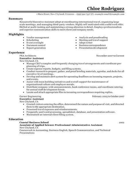pin on resume format best executive assistant job application cover letter for cpc Resume Best Executive Assistant Resume