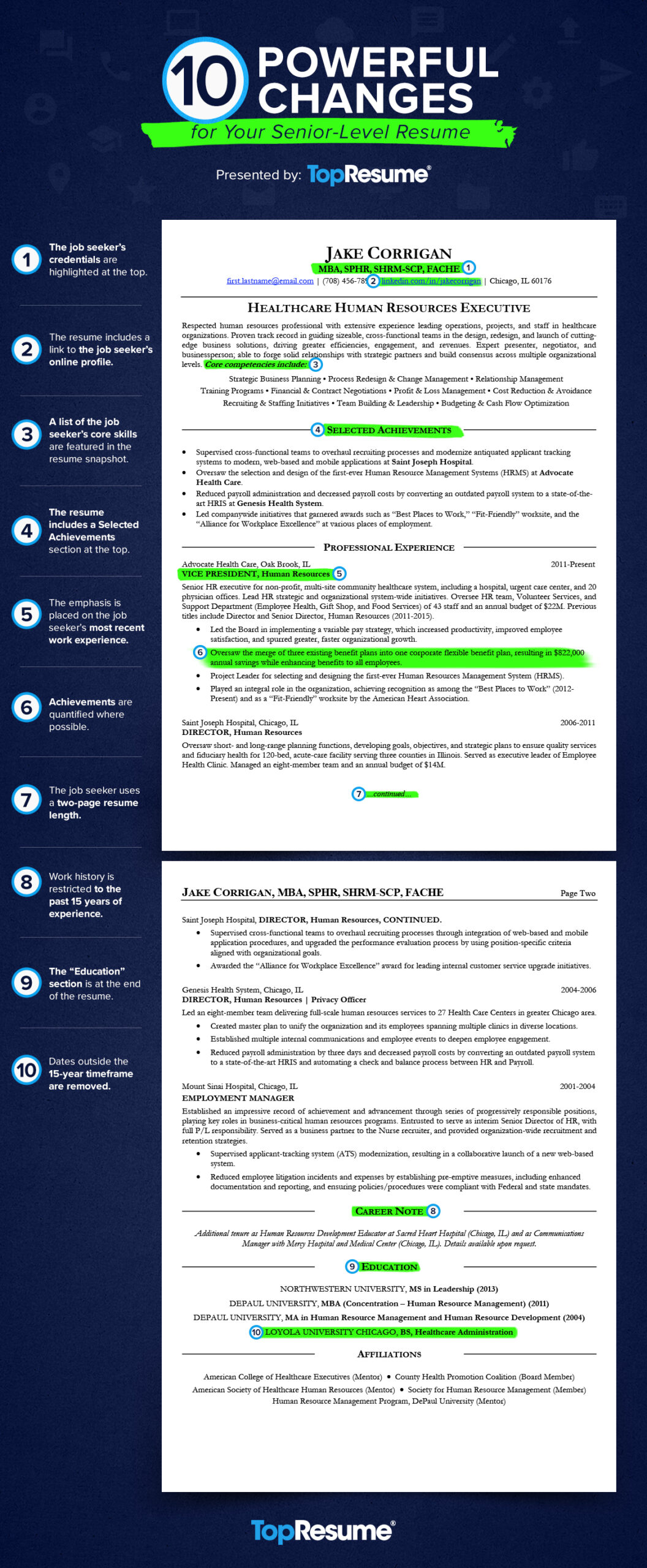 powerful changes for your executive level resume topresume highlights section ig v1 vfx Resume Resume Highlights Section