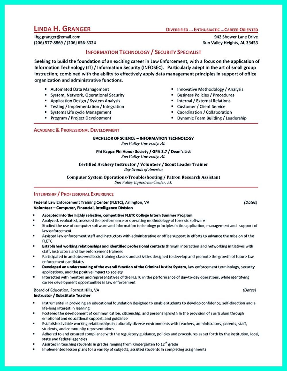 powerful cyber security resume to get hired right away examples student cybersecurity Resume Cybersecurity Resume Sample