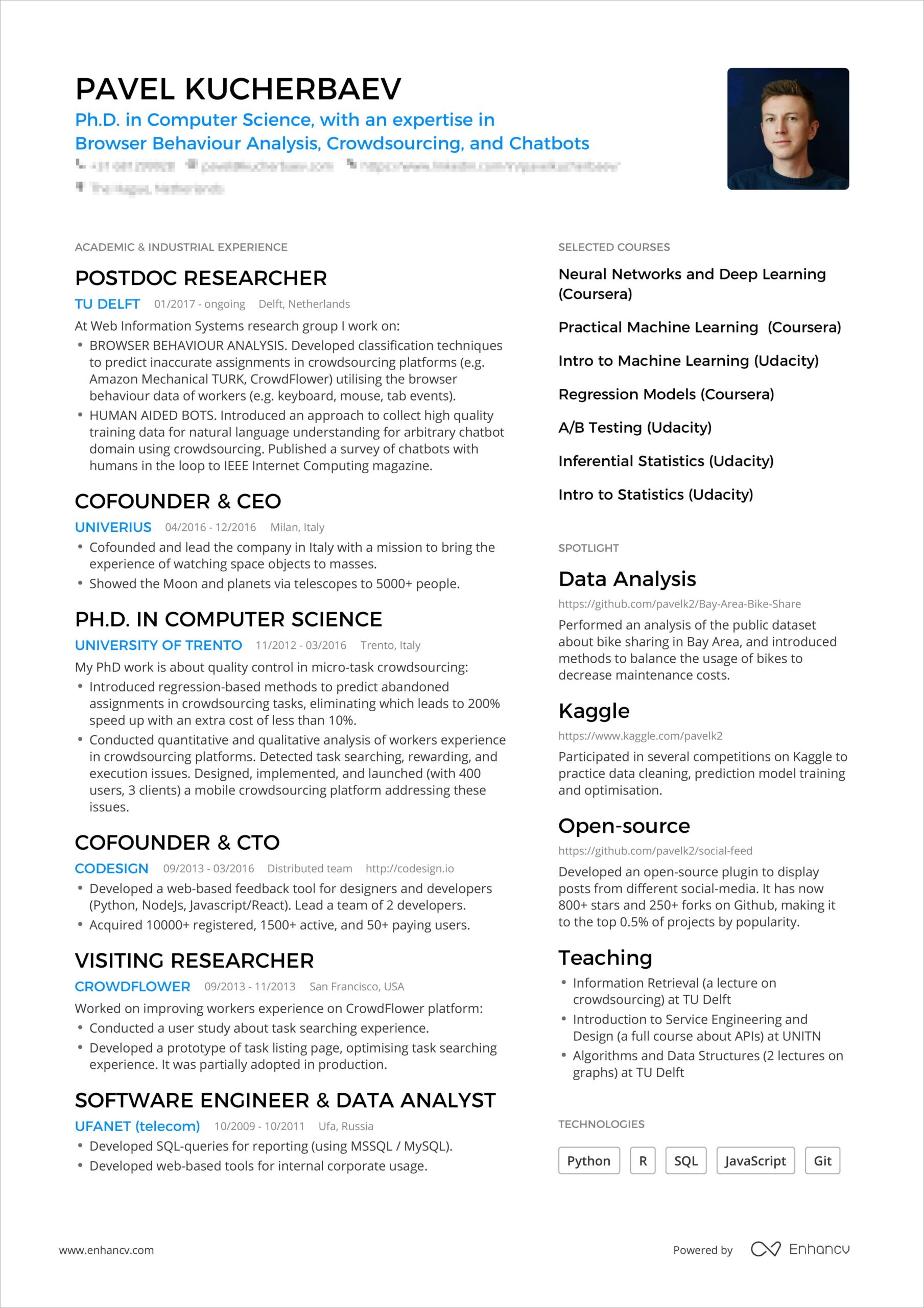 powerful one resume examples you can use now best template pavel booking bordered min Resume Best One Page Resume Template