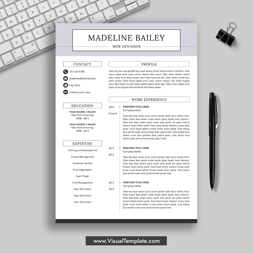 pre formatted resume template with icons fonts and editing guide unlimited digital Resume Resume Templates 2020 Microsoft Word