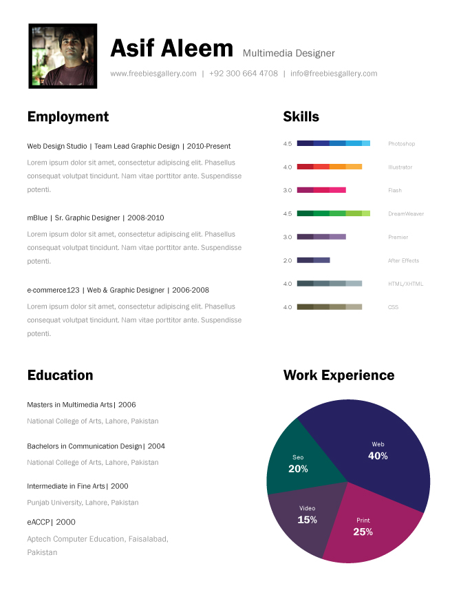premium and free resume templates the design work best one template professional language Resume Best One Page Resume Template
