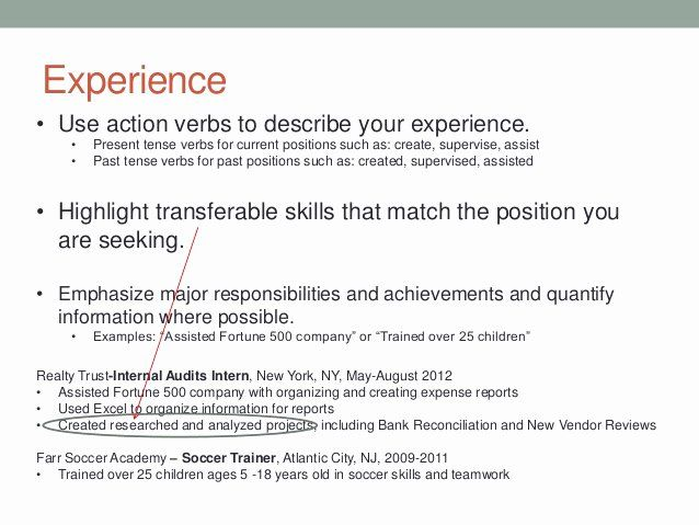 present tense resume example new writing and tips examples quality assurance manager Resume Present Tense Resume Example