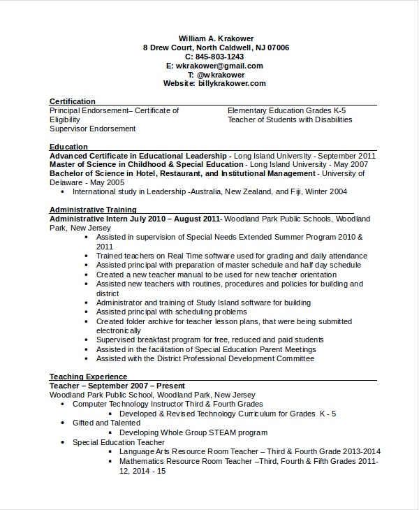 principal resume template free word pdf document downloads premium templates objective Resume Principal Resume Objective Examples