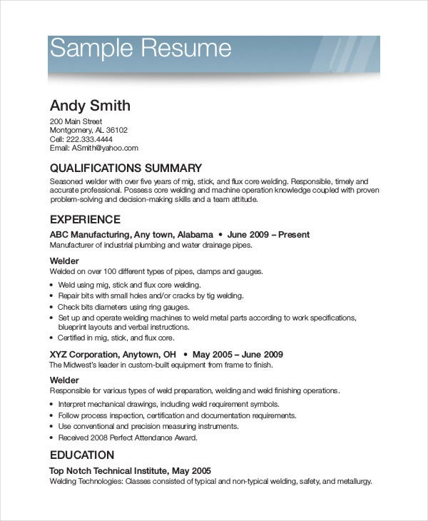 printable resume template free word pdf documents premium templates sample example for Resume Free Printable Sample Resume Templates