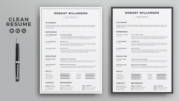 printable resume template free word pdf documents premium templates sample with pie chart Resume Free Printable Sample Resume Templates
