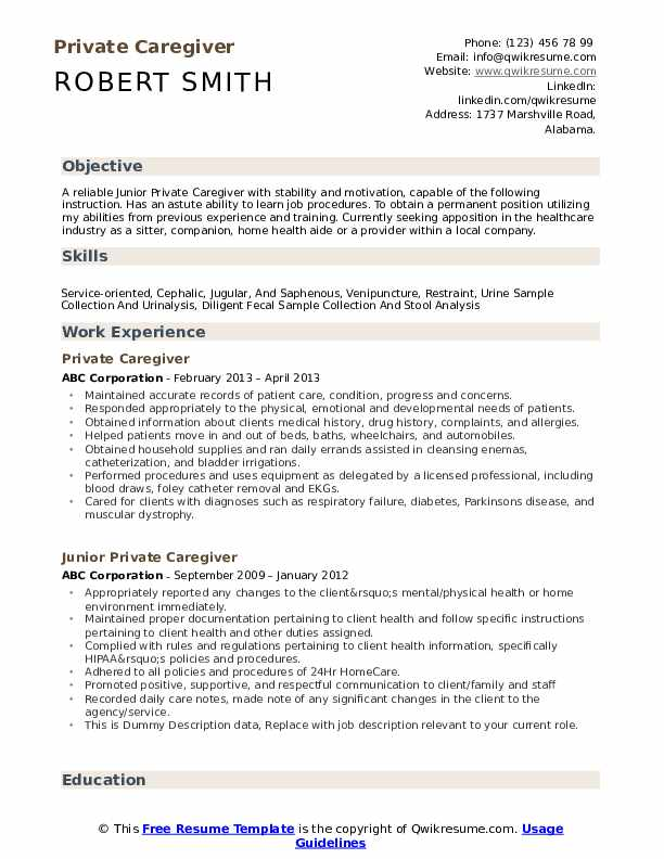 private caregiver resume samples qwikresume in home pdf ministry template instant Resume In Home Caregiver Resume