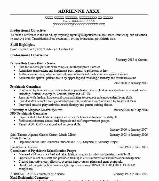 private duty home care nurse resume example independent contract work acton sample the Resume Private Duty Nurse Resume Sample