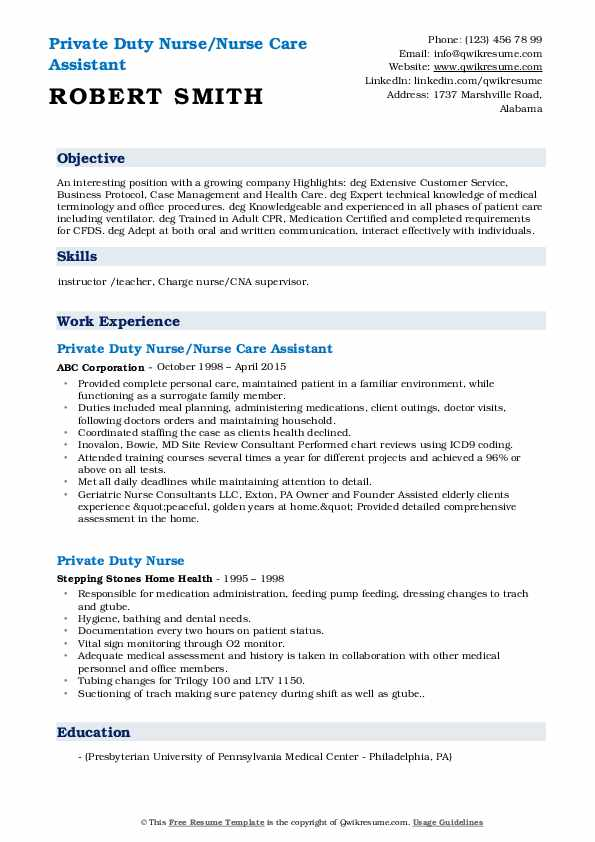 private duty nurse resume samples qwikresume sample pdf emt description microsoft Resume Private Duty Nurse Resume Sample