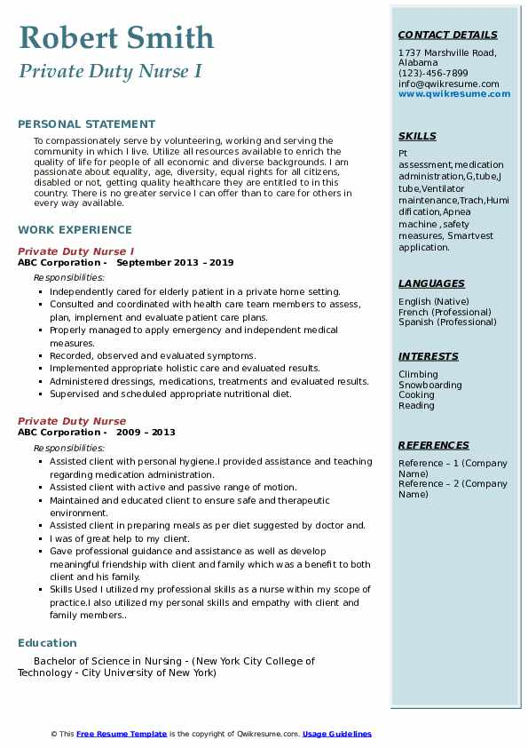 private duty nurse resume samples qwikresume sample pdf microsoft exchange administrator Resume Private Duty Nurse Resume Sample