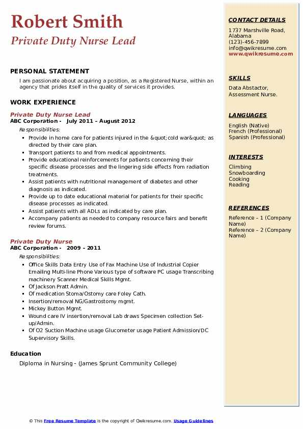 private duty nurse resume samples qwikresume sample pdf study abroad experience on Resume Private Duty Nurse Resume Sample