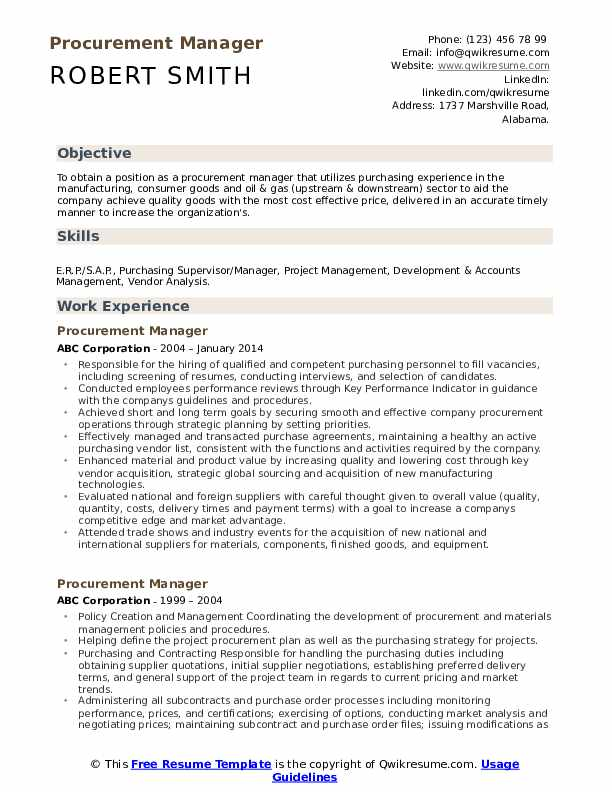procurement manager resume samples qwikresume sourcing examples pdf school letter Resume Sourcing Resume Examples