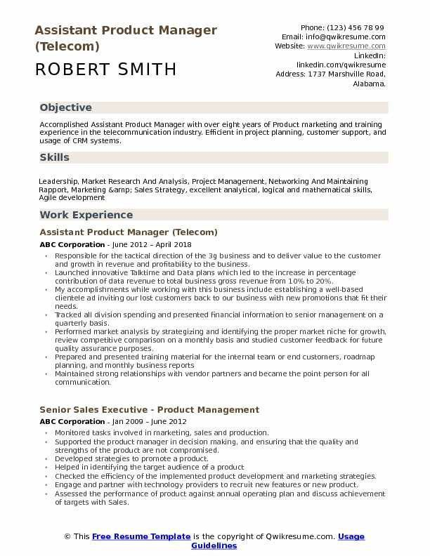 product manager resume example amazing assistant samples of elegant examples objective Resume Telecom Product Manager Resume