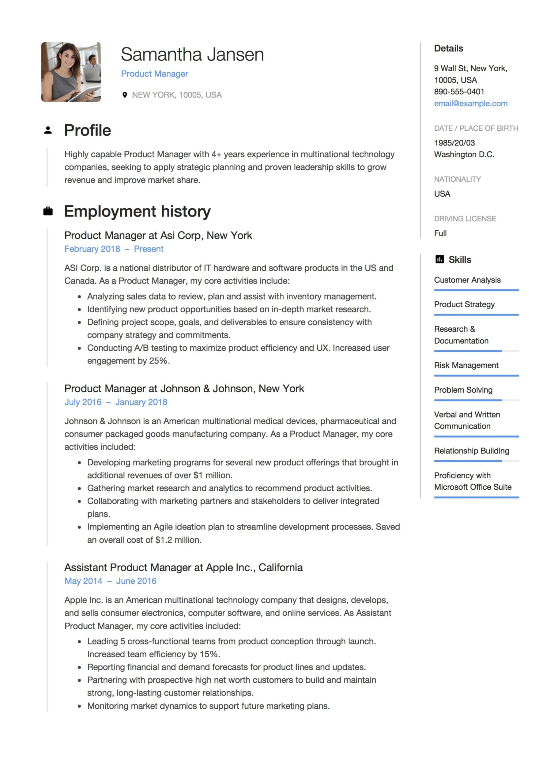 product manager resume guide samples pdf examples event responsibilities updated styles Resume Product Manager Resume Examples