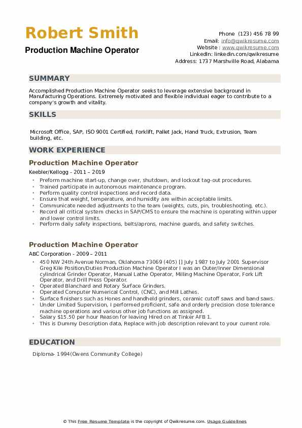 production machine operator resume samples qwikresume examples pdf office assistant Resume Machine Operator Resume Examples