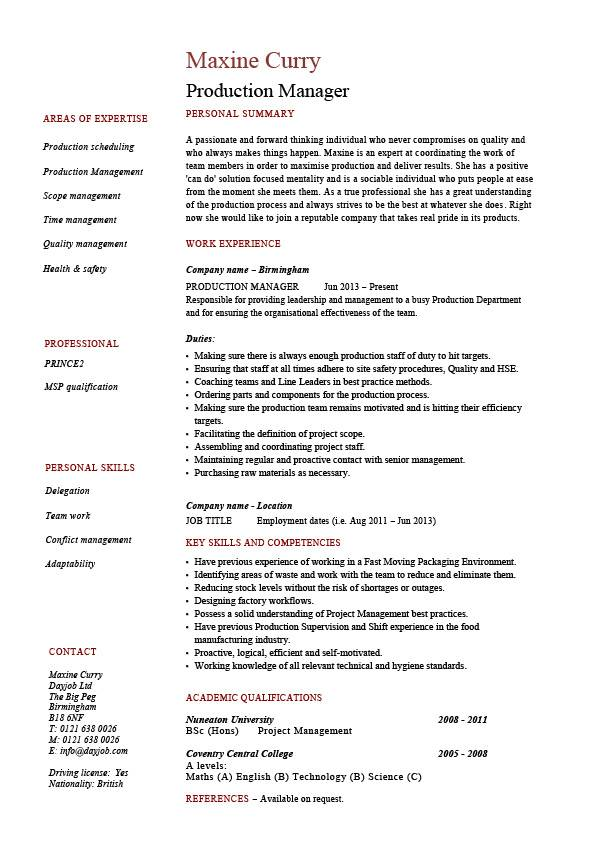 production manager resume samples examples template job description workflow product Resume Product Management Resume Template