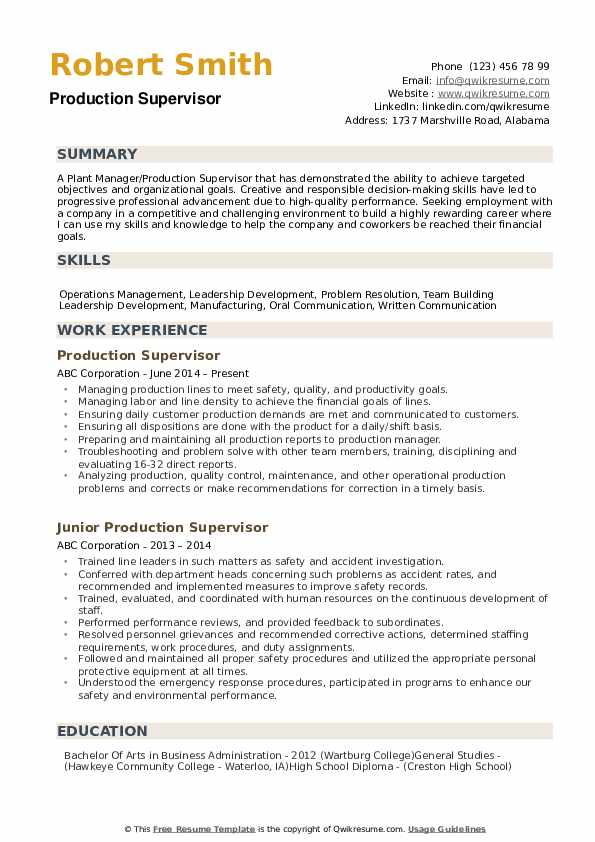 production supervisor resume samples qwikresume manufacturing pdf electrical design Resume Manufacturing Resume Samples