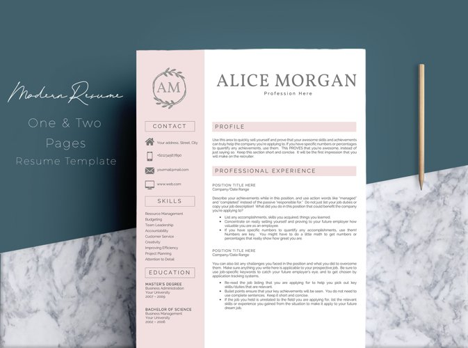 professional creative resume template alice templates design bundles and sample of high Resume Professional And Creative Resume Templates