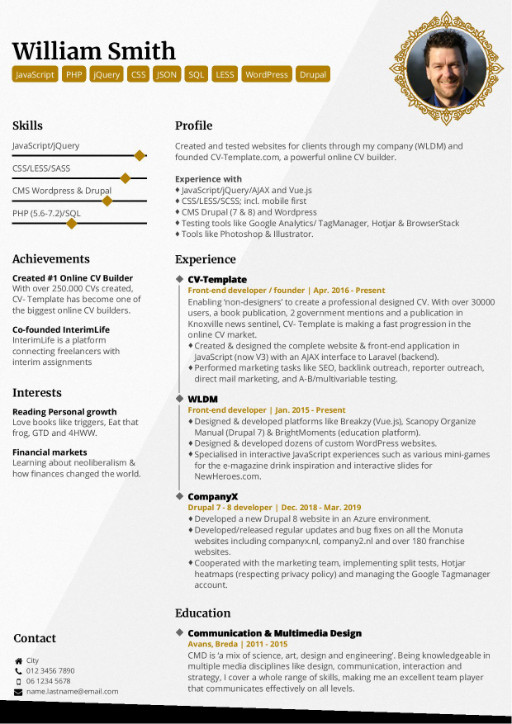 professional cv templates that make you stand out resume elegant template administrative Resume Resume Templates That Stand Out