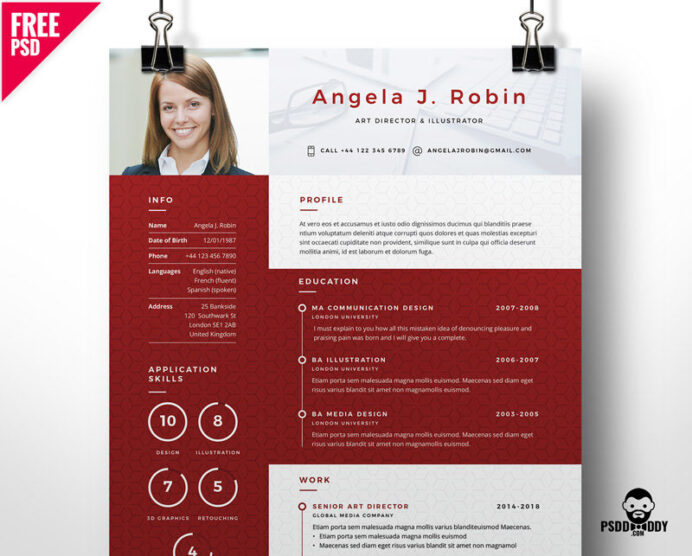 professional free resume template psddaddy unique templates 800x643 parsing software best Resume Unique Resume Templates Free