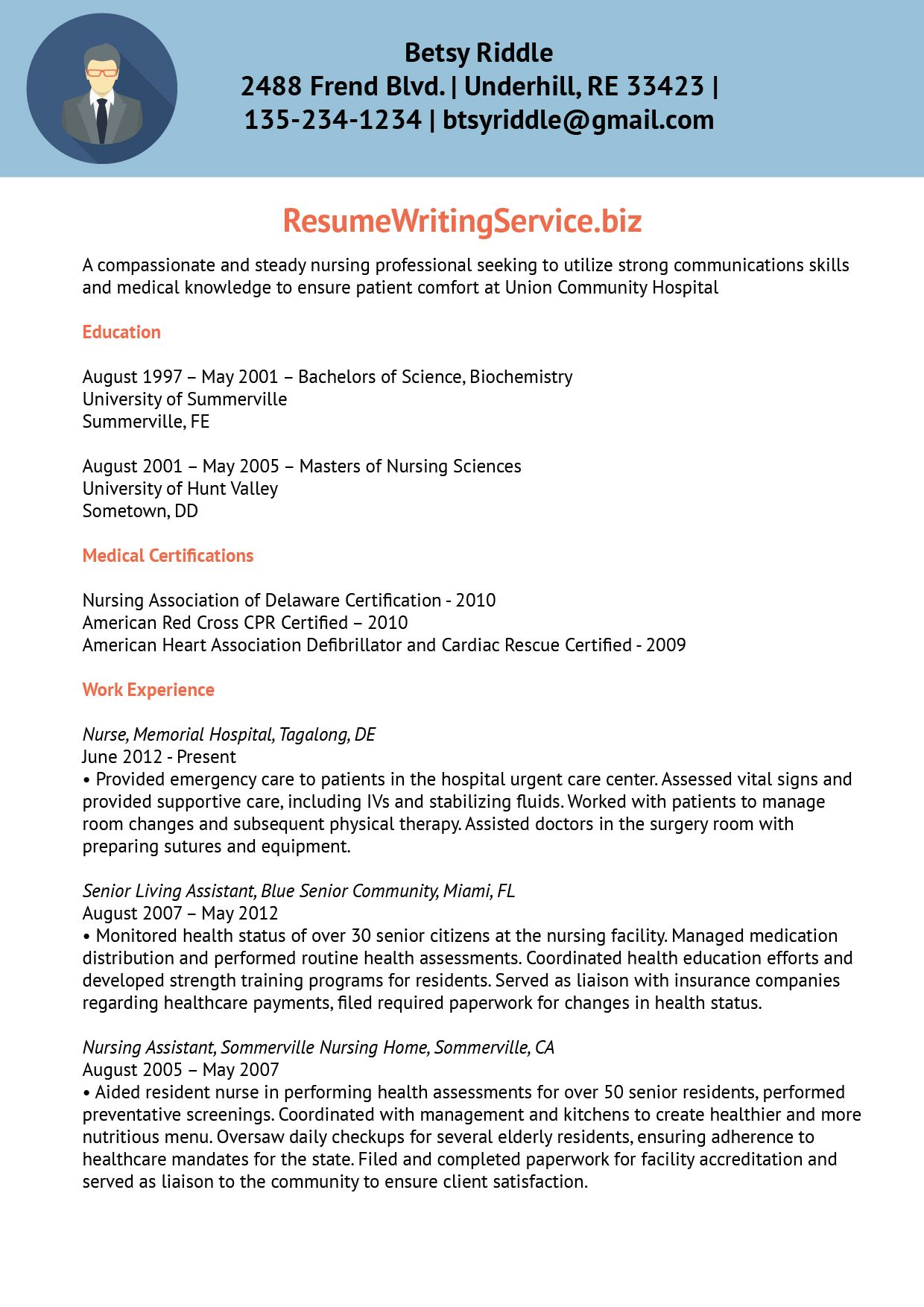 professional nursing resume writing services writers best font and size for travel nurse Resume Nursing Resume Writing Services