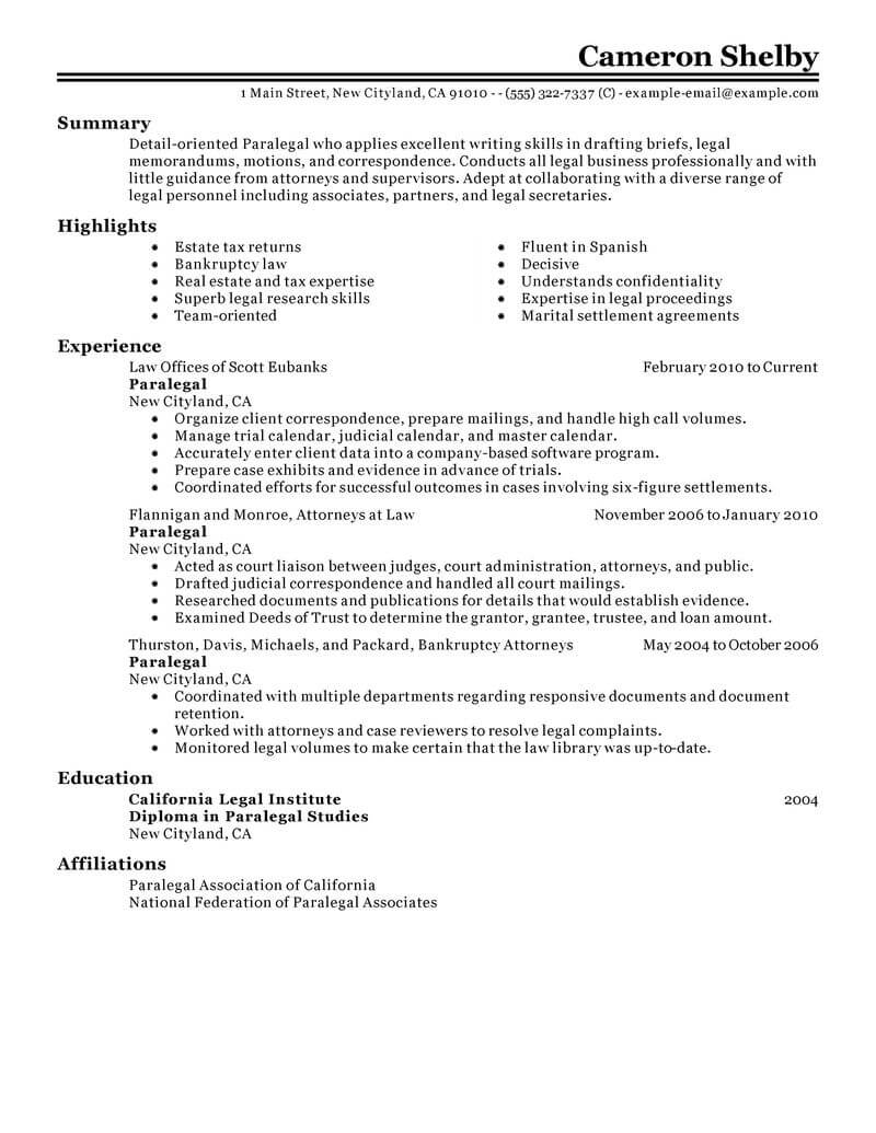professional paralegal resume examples law livecareer resumes that stand out legal Resume Paralegal Resumes That Stand Out