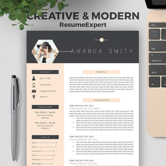professional resume cv templates compatible with ms word etsy in creative design and Resume Professional And Creative Resume Templates