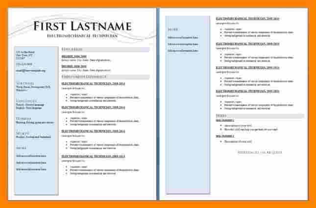 professional resume examples downloadable template sample templates good format junior Resume 2 Page Resume Format