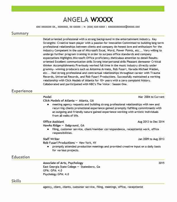 professional resume examples livecareer child model template office assistant on Resume Child Model Resume Template