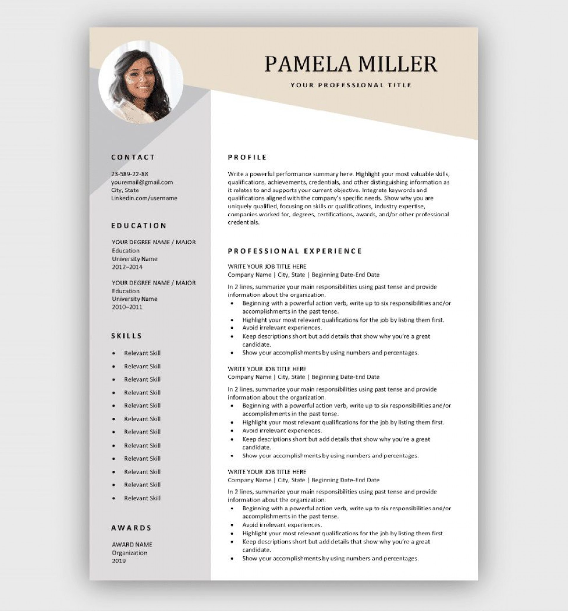 professional resume template free addictionary corporate magnificent photo summary for Resume Corporate Resume Template Free