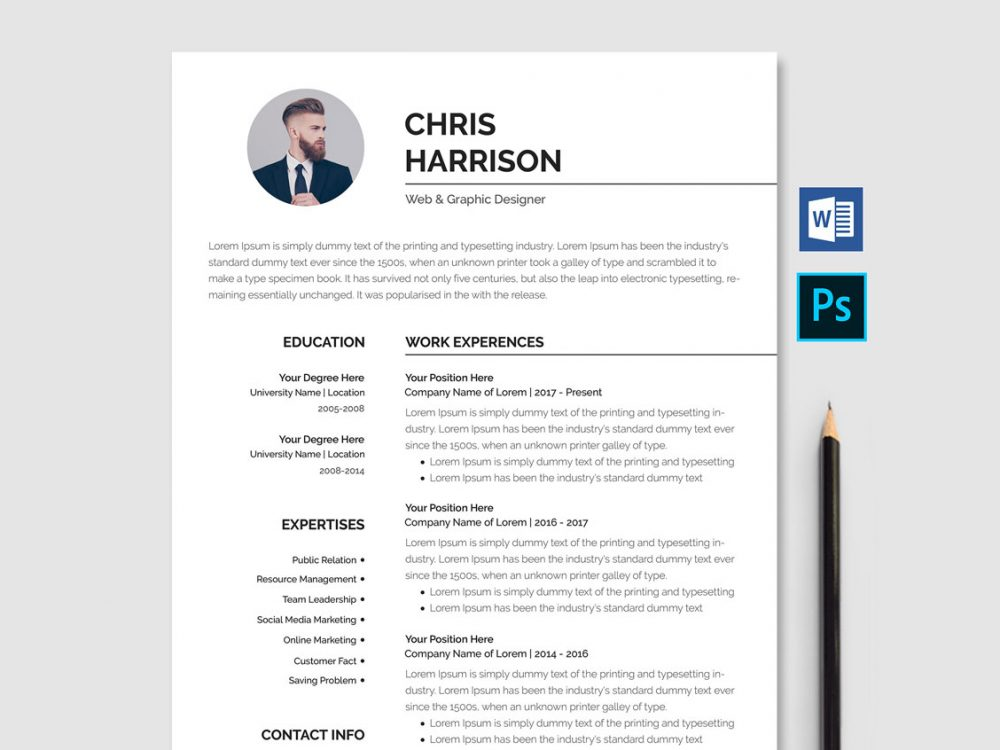 professional resume template free word resumekraft 1000x750 email customer service Resume Professional Resume Template