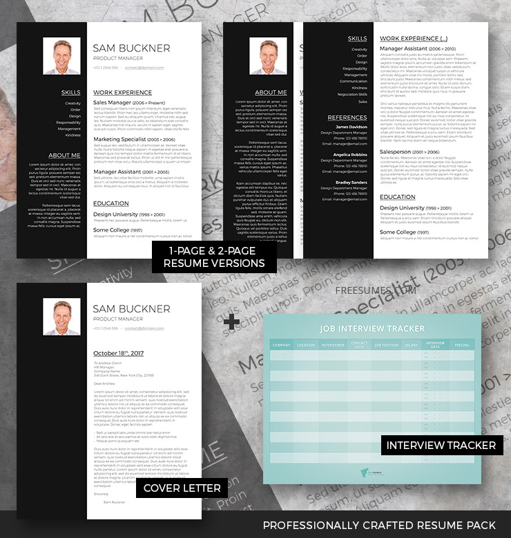 professional resume template set two tones freesumes format cv phone icon for simple Resume 2 Page Resume Format