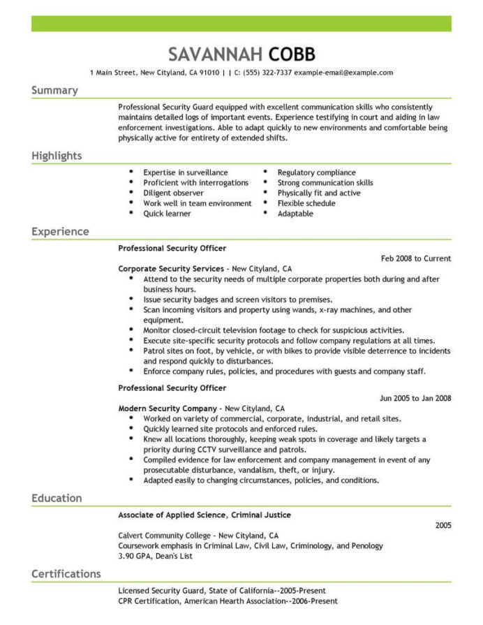 professional security officer resume examples safety livecareer armed guard emergency Resume Armed Security Guard Resume