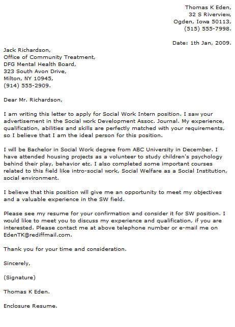 professional social worker cover letter examples resume now mental health work tdsb Resume Mental Health Resume Cover Letter