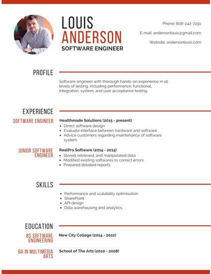 professional software engineer resume template physical therapy aide sample bartender Resume Resume Software Engineer Template