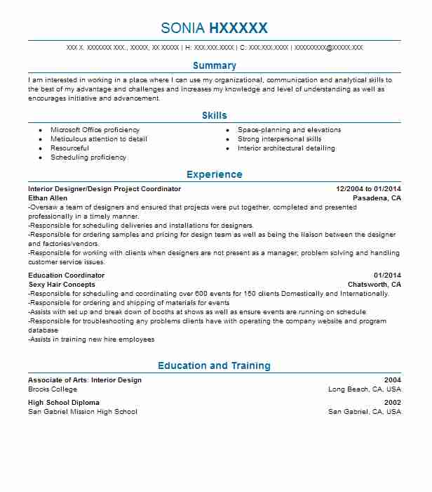 project manager interior fit out resume example colours interiors exhibition events Resume Interior Design Project Manager Resume