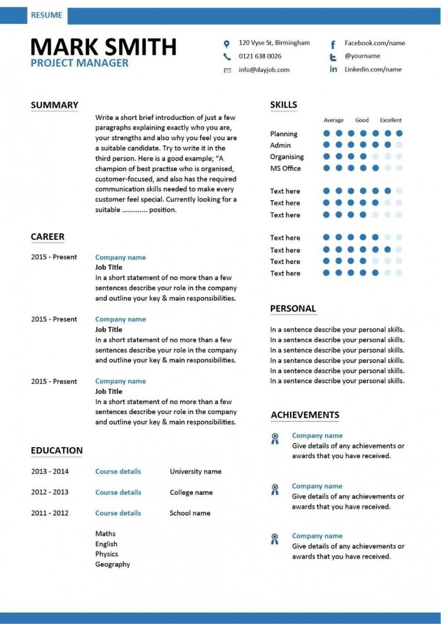 project manager resume template addictionary word best photo footer positive words for Resume Manager Resume Template Word